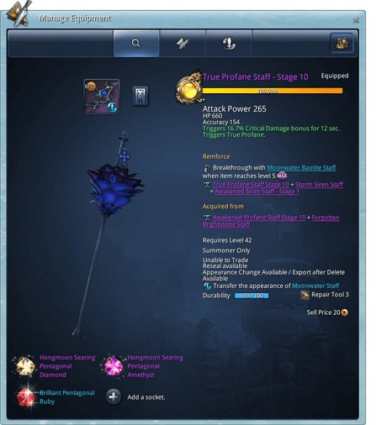 Blade & Soul Gems And Transmutation Guide